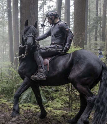Andy Serkis in motion capture suit, plays the role of Caeser the ape in the Dawn of the Planet of the Apes. Photo Courtesy: The American Cinematographer